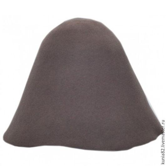 Фетровый колпак DEEP TAUPE полуфабрикат для изготовления шляп и головных уборов. Анна Андриенко. Ярмарка Мастеров.