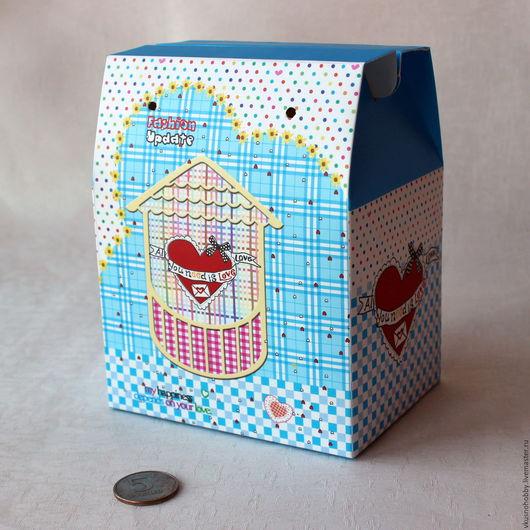 Упаковка ручной работы. Ярмарка Мастеров - ручная работа. Купить Коробка самосборная. Сундучок. 15,5х12х9 см. Handmade. Для сувениров