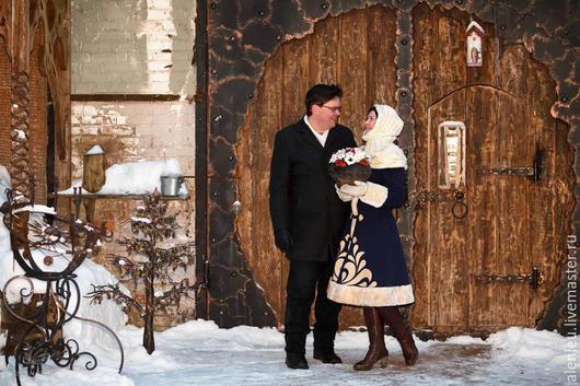 """Верхняя одежда ручной работы. Ярмарка Мастеров - ручная работа. Купить """" Очарование Марины""""  пальто зимнее дизайнерское. Handmade."""
