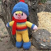 Куклы и игрушки ручной работы. Ярмарка Мастеров - ручная работа Вязаная кукла из шерсти  Малыш. Handmade.
