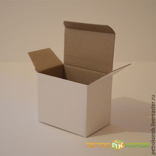 Упаковка ручной работы. Ярмарка Мастеров - ручная работа. Купить Самосборная коробка 014 (12х8х10). Handmade. Белый, картонная упаковка