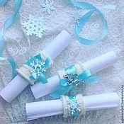 Свадебный салон handmade. Livemaster - original item Invitations-scrolls in winter theme. Handmade.