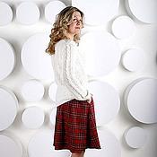 Одежда ручной работы. Ярмарка Мастеров - ручная работа Юбка прямая Шотландка. Handmade.