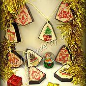 Подарки к праздникам ручной работы. Ярмарка Мастеров - ручная работа Гирлянда декоративная. Handmade.