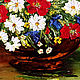 Oil painting of Daisies with poppies. Pictures. Zabaikalie. My Livemaster. Фото №6