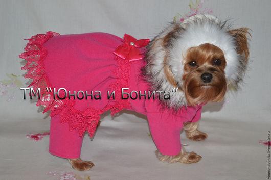 """Одежда для собак, ручной работы. Ярмарка Мастеров - ручная работа. Купить Комбинезон-пальто """"Ягода-Малина"""". Handmade. Комбинезон, чихуахуа"""