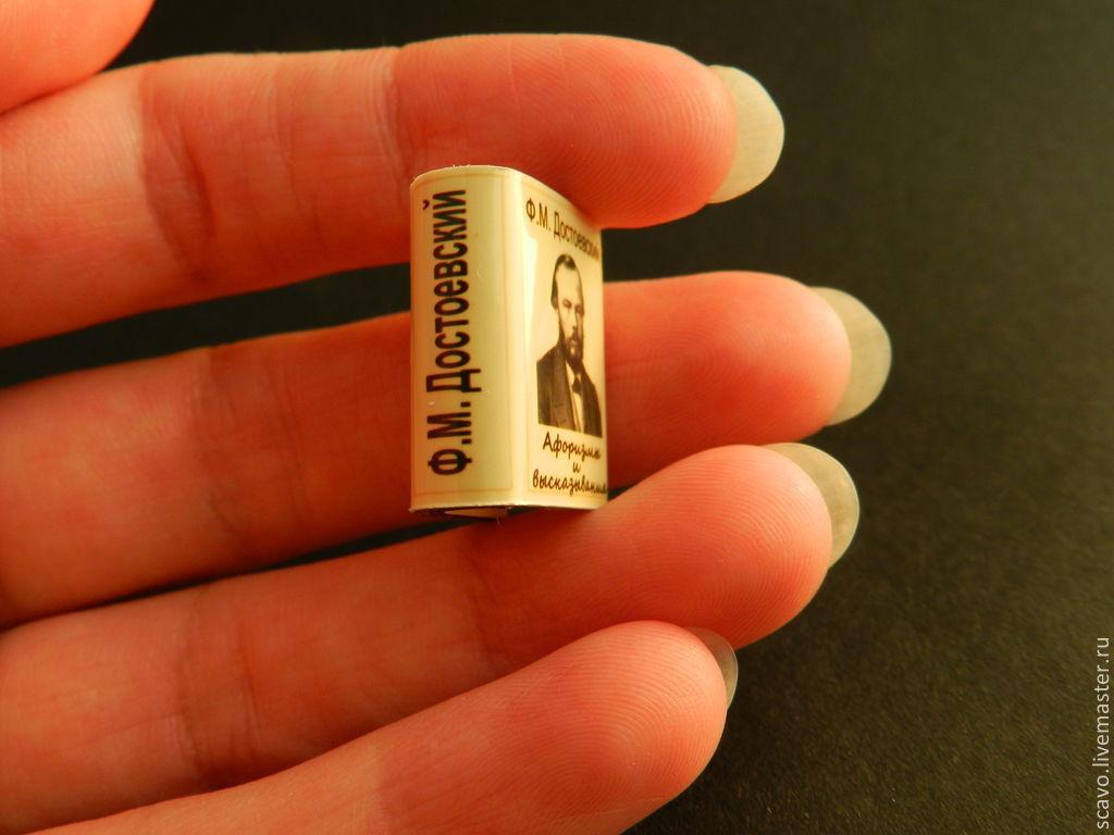 Афоризмы Достоевского, миниатюрная книга (миникнига), Мебель для кукол, Санкт-Петербург,  Фото №1