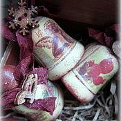 Подарки к праздникам ручной работы. Ярмарка Мастеров - ручная работа Набор Винтажное Рождество. Handmade.