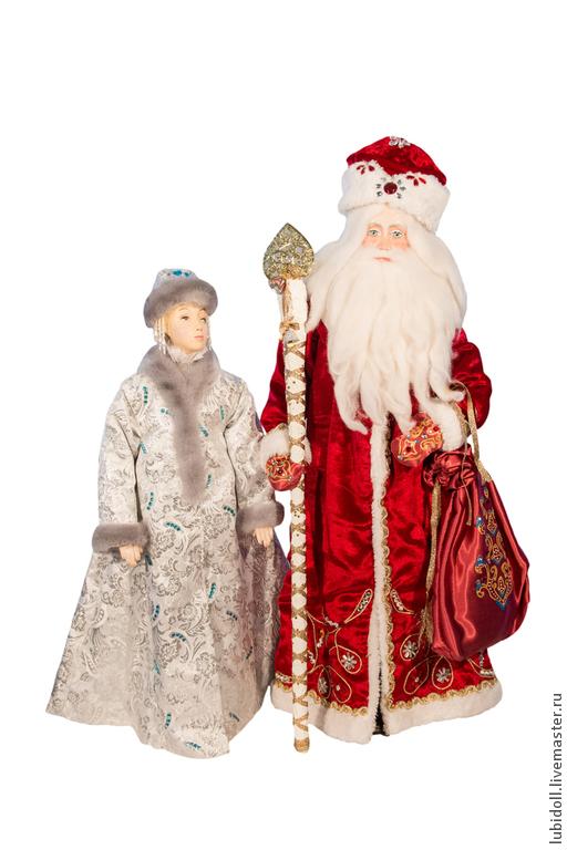 Коллекционные куклы ручной работы. Ярмарка Мастеров - ручная работа. Купить Дед Мороз со Снегурочкой (продаются в паре). Handmade.