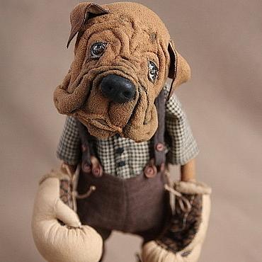 """Куклы и игрушки ручной работы. Ярмарка Мастеров - ручная работа """"Мама, я тебя защитю"""" собака боксер. Handmade."""