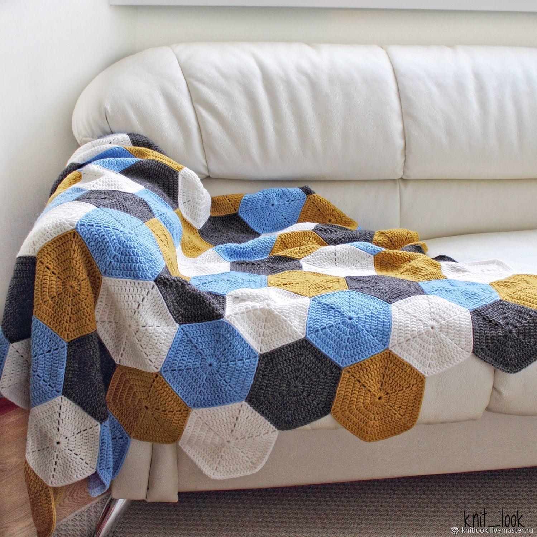 Plaid knitted AUTUMN, Blankets, Krasnogorsk,  Фото №1