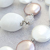 Украшения handmade. Livemaster - original item Classic necklace from agate and Mallorca