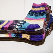 Аксессуары ручной работы. Ярмарка Мастеров - ручная работа Короткие шерстяные носочки. Handmade.