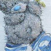 Картины и панно ручной работы. Ярмарка Мастеров - ручная работа Мишки Тедди триптих, авторская техника. Handmade.
