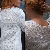 """Одежда ручной работы. Ярмарка Мастеров - ручная работа Пуловер """"Цветы на снегу"""". Handmade."""