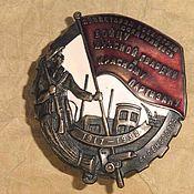 Винтаж handmade. Livemaster - original item Award anniversary badge Soldier of the red Guard and the guerrilla. Handmade.
