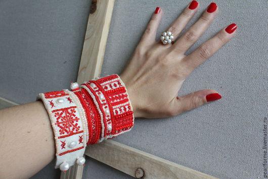 Украшения и аксессуары ручной работы. Ярмарка Мастеров - ручная работа. Купить браслет Красный рябиновый. Handmade. Ярко-красный