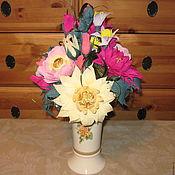 Подарки к праздникам ручной работы. Ярмарка Мастеров - ручная работа Мода на ботанику - букет из конфет. Handmade.