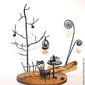 """Сувениры и подарки ручной работы. Ярмарка Мастеров - ручная работа Миниатюрная авторская композиция для фотографии """"Чаепитие в саду """". Handmade."""