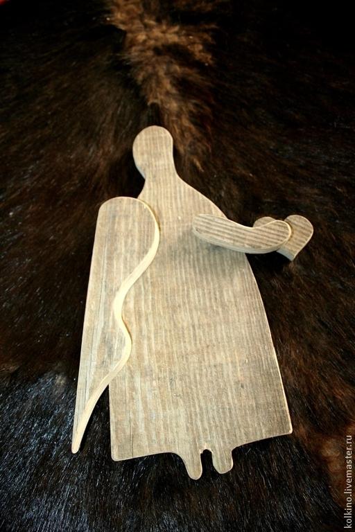Сказочные персонажи ручной работы. Ярмарка Мастеров - ручная работа. Купить ангелы, сердечки и домики. Handmade. Серый, старое дерево
