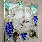 Для дома и интерьера handmade. Livemaster - original item Watch stained glass