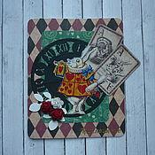 """Открытки ручной работы. Ярмарка Мастеров - ручная работа Приглашение на детский день рождения """"Алиса в стране чудес"""". Handmade."""