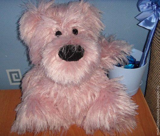 Игрушки животные, ручной работы. Ярмарка Мастеров - ручная работа. Купить Розовый Мишка. Handmade. Бледно-розовый, интерьерная игрушка