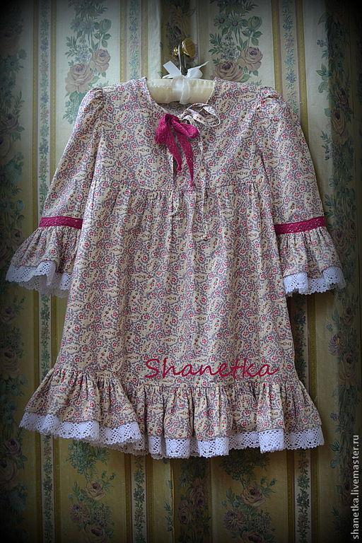 Одежда для девочек, ручной работы. Ярмарка Мастеров - ручная работа. Купить Платье для девочки хлопковое Этническое. Handmade. Бежевый