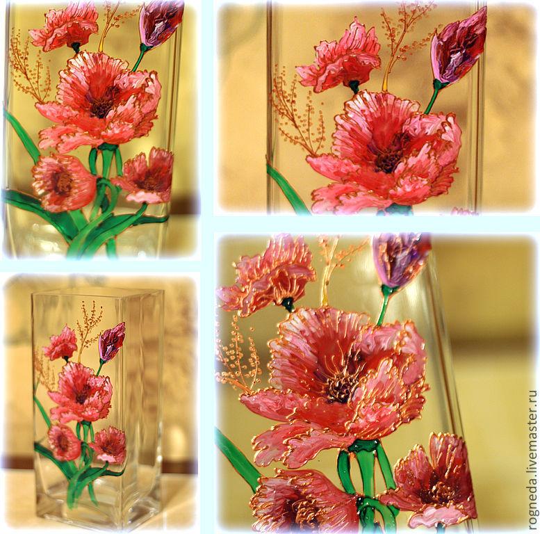 "Ваза ""Попугайчатые тюльпаны"" (0134)"