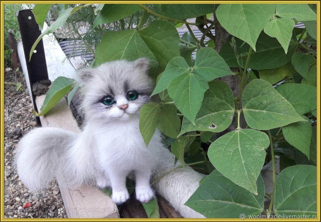 Кошечка и шерсти, Войлочная игрушка, Орск,  Фото №1