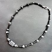 Украшения handmade. Livemaster - original item Men`s necklace made of snow obsidian. Handmade.
