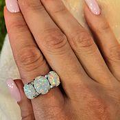 Кольца ручной работы. Ярмарка Мастеров - ручная работа Серебряное кольцо с опалом. Handmade.