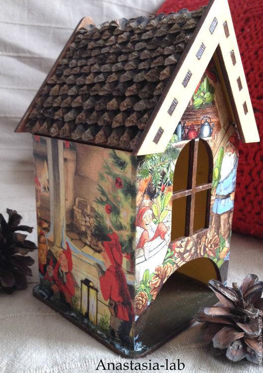 """Кухня ручной работы. Ярмарка Мастеров - ручная работа. Купить Чайный домик""""Рождественская сказка"""". Handmade. Чайный домик, новогодний интерьер"""