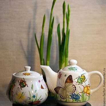 Посуда ручной работы. Ярмарка Мастеров - ручная работа Бабочки и жуки. Handmade.