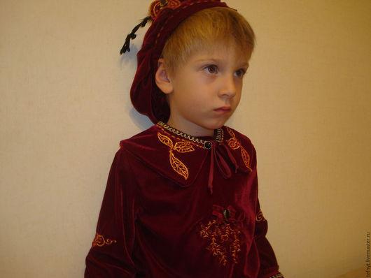 """Детские карнавальные костюмы ручной работы. Ярмарка Мастеров - ручная работа. Купить Костюм """"Принца"""" с вышивкой. Handmade. Бордовый, принцы"""