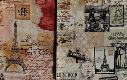 """Шитье ручной работы. Ярмарка Мастеров - ручная работа. Купить Ткань для пэчворка """"Bonjour Paris"""". Handmade. Сепия, Париж"""