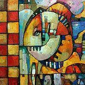 Картины и панно ручной работы. Ярмарка Мастеров - ручная работа Рыба моей мечты авторская живопись маслом в современно стиле. Handmade.