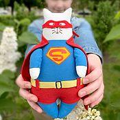Куклы и игрушки handmade. Livemaster - original item Cat Superman. Handmade.