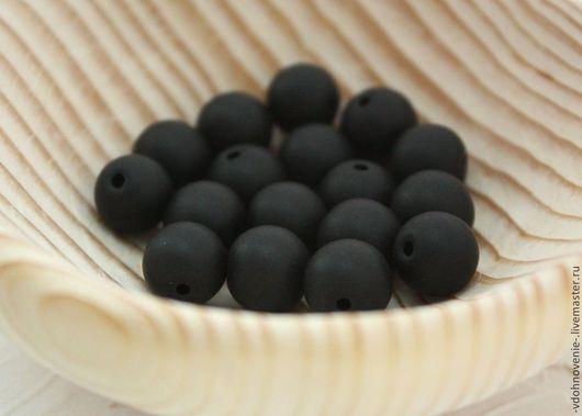 Для украшений ручной работы. Ярмарка Мастеров - ручная работа. Купить Бусина ШУНГИТ шар 12 мм. Handmade.