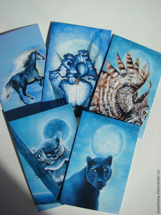 """Открытки на все случаи жизни ручной работы. Ярмарка Мастеров - ручная работа. Купить Коллекционный набор  поздравительных открыток """"Магия ночи"""". Handmade."""