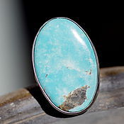 handmade. Livemaster - original item Ring with turquoise, Blue lagoon, silver, natural turquoise. Handmade.