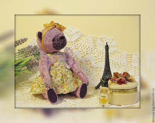 Мишки Тедди ручной работы. Ярмарка Мастеров - ручная работа. Купить Мишка Анфиска. Handmade. Сиреневый, мишка в одежке, плюш