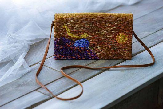 """Женские сумки ручной работы. Ярмарка Мастеров - ручная работа. Купить """"Маленький принц"""", сумка кожаная, вышивка бисером.. Handmade."""