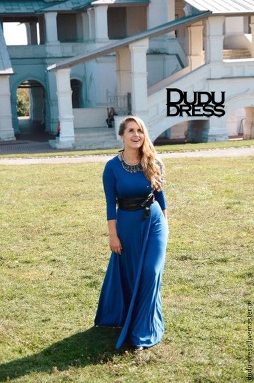 Платья ручной работы. Ярмарка Мастеров - ручная работа. Купить Платье с  запахом синий электрик ... b31cffe8513b2