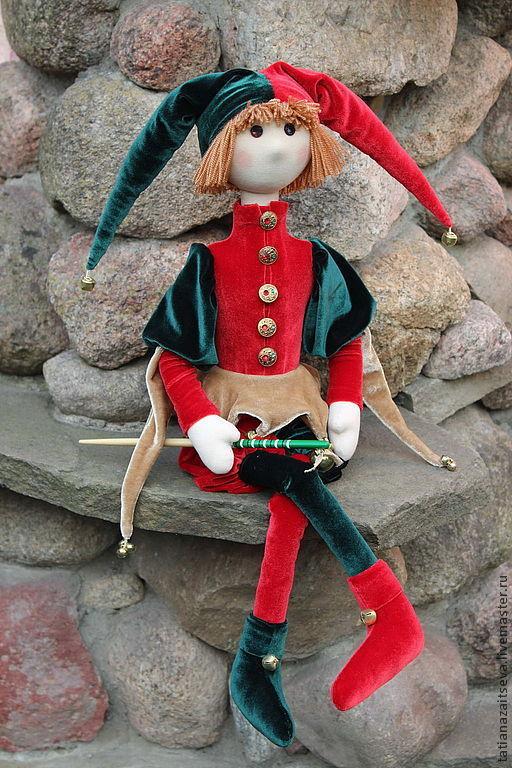 Коллекционные куклы ручной работы. Ярмарка Мастеров - ручная работа. Купить Шут Шарль. Handmade. Кукла ручной работы, хлопок
