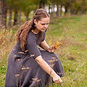 """Одежда ручной работы. Ярмарка Мастеров - ручная работа Платье вязаное """"Просто серое платье"""". Handmade."""