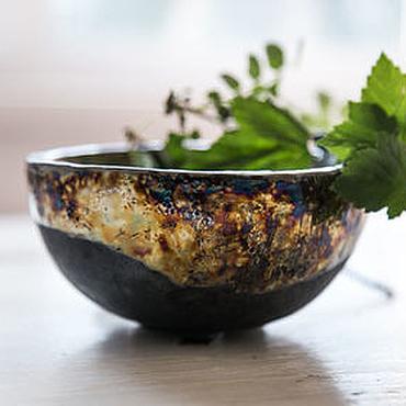 Посуда ручной работы. Ярмарка Мастеров - ручная работа Медное раку. Пиала ручной лепки, керамика. Handmade.