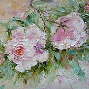 Картины и панно handmade. Livemaster - original item Picture pink roses. Handmade.
