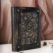 Канцелярские товары handmade. Livemaster - original item Notepad in steampunk style for men. Handmade.