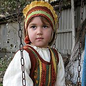 Русский стиль ручной работы. Ярмарка Мастеров - ручная работа Костюм в народном стиле  для девочки. Handmade.